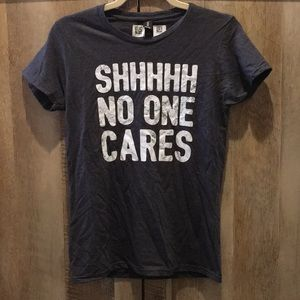 Shhh No One Cares 🤫 Anvil T-Shirt - Heather Gray